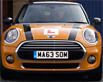 We use a smart Mini to teach you to drive
